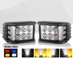 LED Bar 36w 18w Spot + 18w Strobe